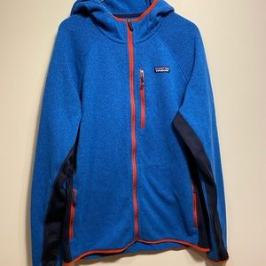Men's Patagonia better sweater full zip with hood